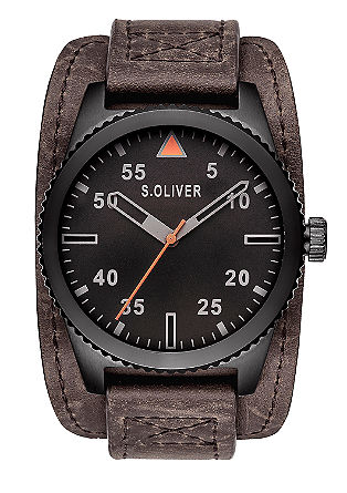 Opvallend herenhorloge, van materiaalmix