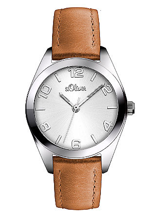 Opvallend horloge met leren band