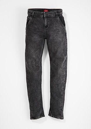 Otis Relaxed: Tone-in-tone grey jeans from s.Oliver