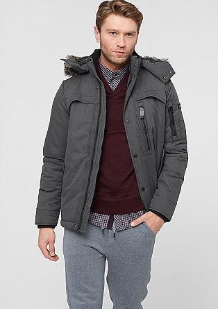 Outdoor-Jacke im Fischgrat-Design