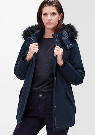 Outdoor-Jacke mit Fake-Fur