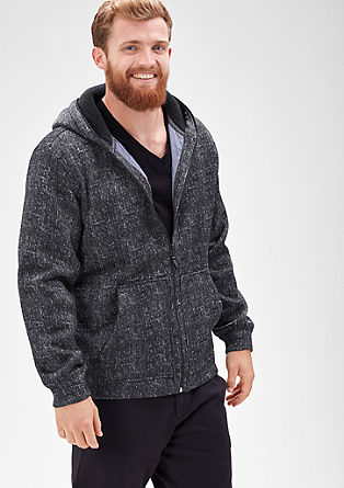 Outdoor jacket in a knitted look from s.Oliver