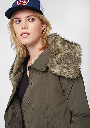 Outdoor jacket with fake fur from s.Oliver