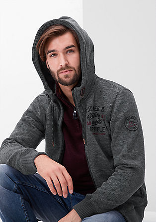 Outdoor sweatshirt jacket in a knit look from s.Oliver