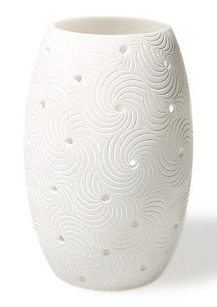 Ovales Windlicht mit Spiralen, groß