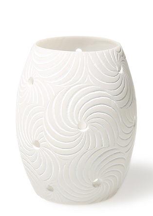 Ovales Windlicht mit Spiralen, klein