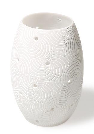 Ovales Windlicht mit Spiralen