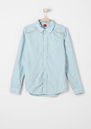 Overhemd met een crinkle look