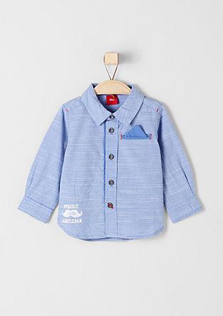 Overhemd met een strepenstructuur