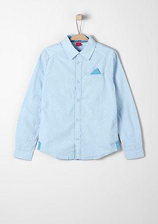 Overhemd met fijne ruiten