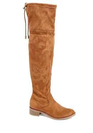 Overknee-Stiefel mit Zierkordel