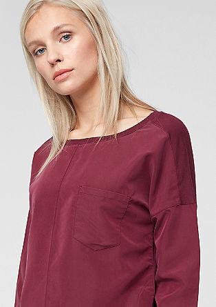 Oversize-Bluse aus tonigem Materialmix