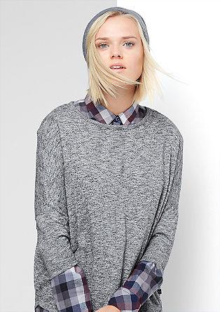 Oversize-Shirt aus Feinstrick