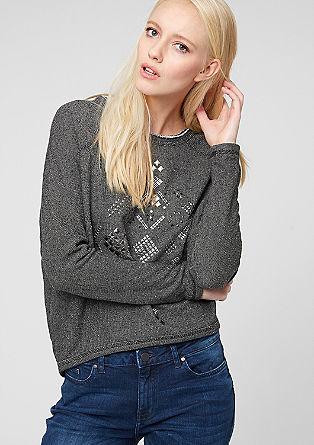 Oversize-Sweater mit Nieten