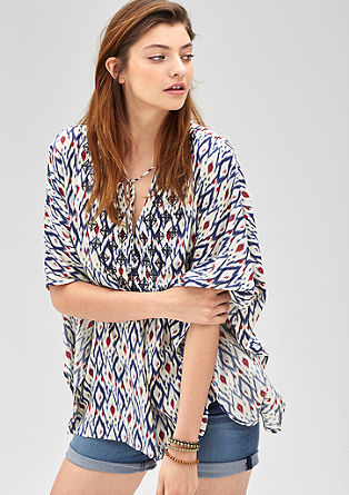 Oversized blouse in an ikat look from s.Oliver
