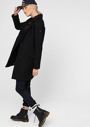 Oversized bouclé coat from s.Oliver