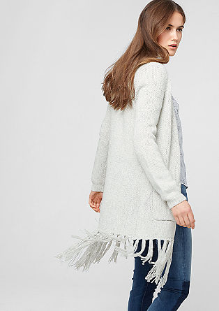 Oversized cardigan with fringing from s.Oliver