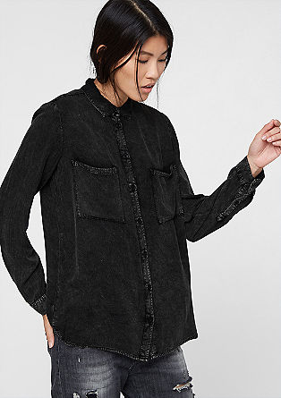 Oversized denim-look shirt blouse from s.Oliver