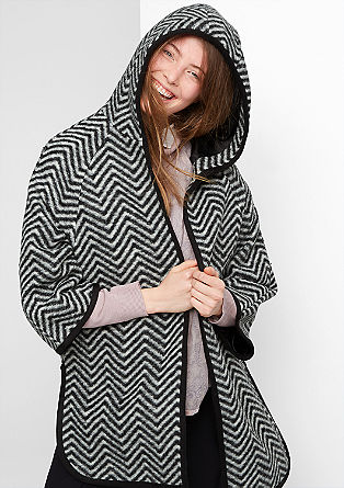 Oversized jacket in blended wool from s.Oliver