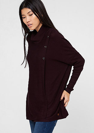 Oversized jumper in a wrap-over look from s.Oliver