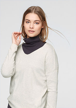Oversized jumper with a percentage of cashmere from s.Oliver