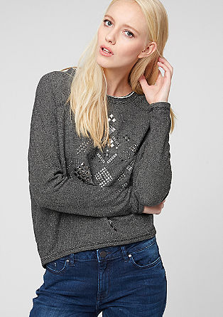 Oversized jumper with studs from s.Oliver