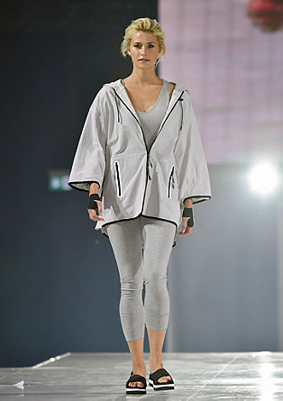 Oversized poncho with black edges from s.Oliver