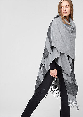 Oversized poncho with stripes from s.Oliver