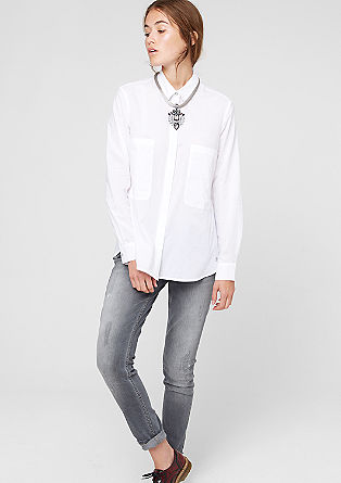 Oversized shirt blouse with XL pockets from s.Oliver
