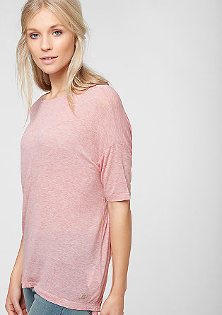 Oversized stretch viscose T-shirt from s.Oliver
