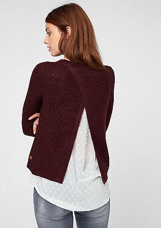 Ovit pulover z bluznim detajlom