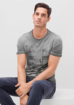 Ozka kratka majica s fototiskom
