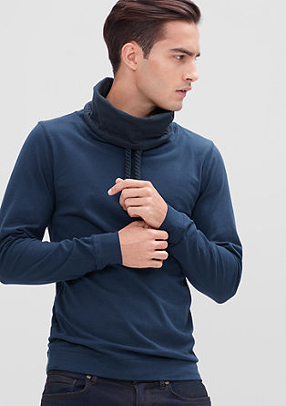 Ozka majica dolg rokav z ovratnikom