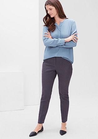 Ozke, raztegljive hlače iz žakarda