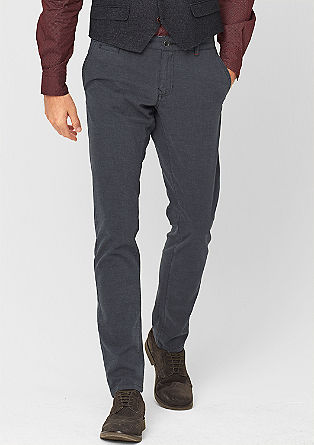 Ozke Benito:hlače s strukturo tkanine