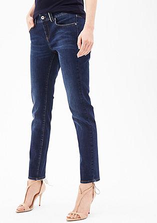 Ozke jeans hlače Sienna Slim: raztegljive jeans hlače dolžine 7/8