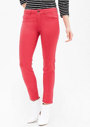 Ozke jeans hlače Sienna Slim: satenaste jeans hlače