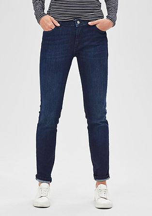 Ozke jeans hlače z učinkom oblikovanja