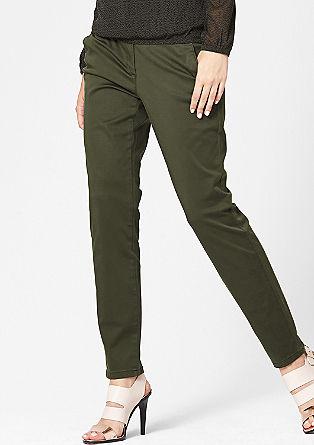 Ozko: raztegljive satenaste hlače chino