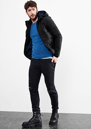 Padded, quilted jacket with a hood from s.Oliver