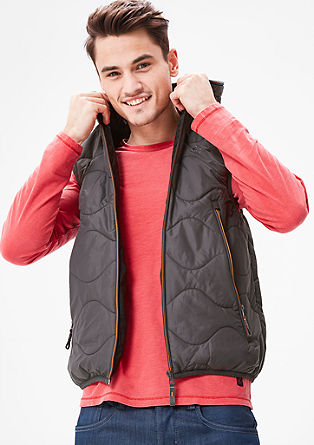 Padded body warmer with a hood from s.Oliver