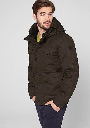 Padded jacket with a hood from s.Oliver