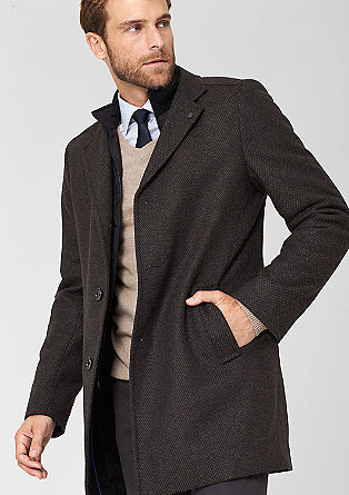 Padded tweed coat from s.Oliver