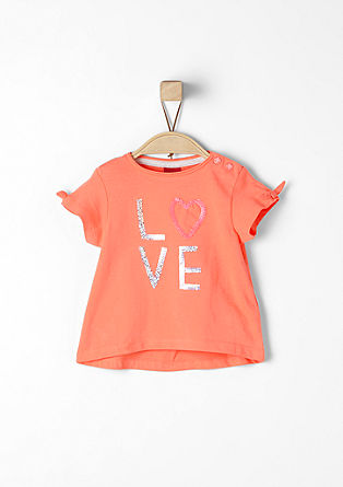 Pailletten-Shirt mit Knoten-Details