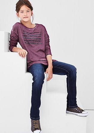 Pailletten-Shirt mit Wascheffekt