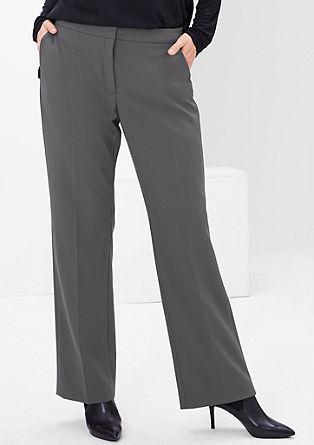 Pantalon met wijde pijpen
