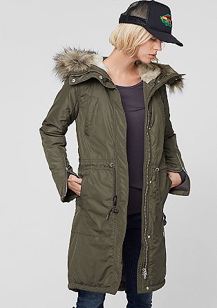 Parka with a fake fur hood from s.Oliver