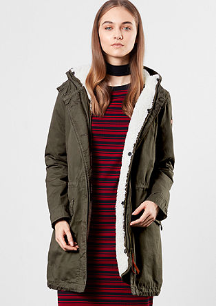 Parka with plush details from s.Oliver