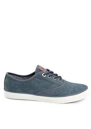 Pastellige Leder-Look-Sneaker