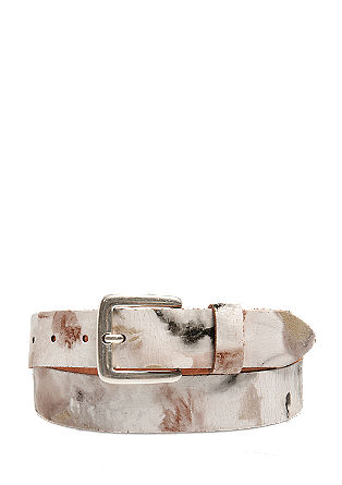 Patent leather belt with a pattern from s.Oliver